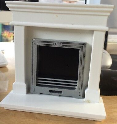 1/12Th Scale Dolls House Miniature Modern Fireplace Df970