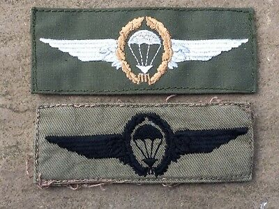 Post 1966 West German Cloth Parachutists Cloth Wings, (foreign Student)