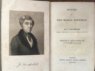 1847 - History of The Roman Republic by J. Michelet