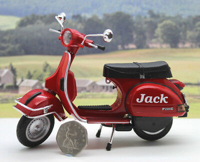 Personalised Name Gift Red 1/12 Vespa Scooter Boys Dad Toy Model Xmas Present