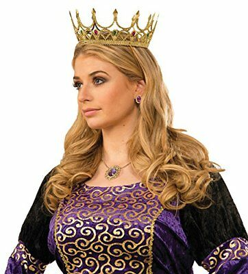 Gold Medieval Royal Queen Plastic Crown Prince Costume Accessory Adult Princess