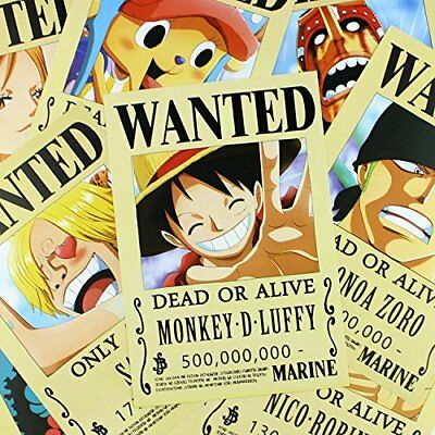 Bluefun Anime One Piece Pirates Wanted Posters 9pcs Set - Style New Big Size New