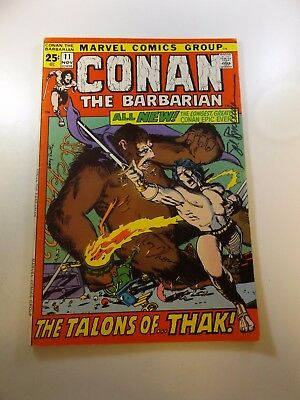 Conan The Barbarian #11 signed by Roy Thomas and Sal Buschema FN condition