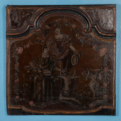 Original Antique Hand Painted French Wood Panel