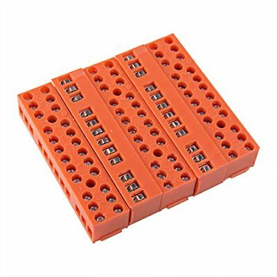 uxcell 5 Pcs 600V 36A Dual Row 12 Positions Screw Terminal Electric Barrier