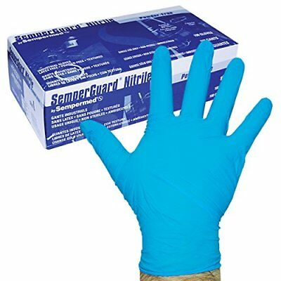 Sempermed 4-Mil Blue Nitrile Gloves-Extra Large-Box/100, X-Large New