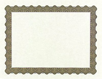 "Great Papers! Metallic Gold Border Certificate, 8.5""x 11"", 100 Count (934000)"