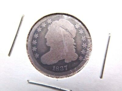 1837 Capped Bust Dime Ten Cents Coin US COIN RARE Hard to Find