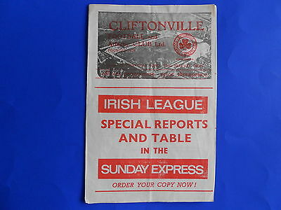 CLIFTONVILLE v BANGOR 1965/66  Irish League