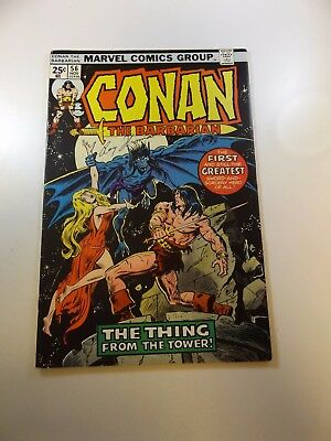 Conan The Barbarian #56 signed by Roy Thomas FN+ condition