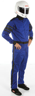 Racequip 110022 Small Blue One Layer 1 Piece Driving Suit Auto Racing SFI