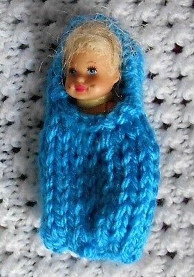 "Doll Clothes Turquoise Baby Cocoon Fits 3"" Krissy, 2.5"" Kewpie"
