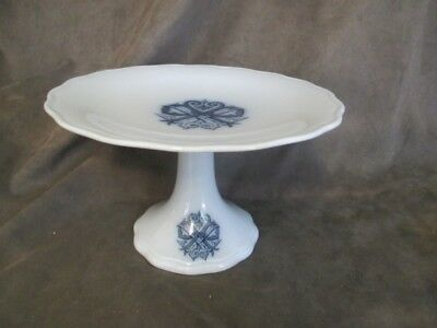 F1 Antique English Pottery - Ceramic Footed Cake Stand Compote Staffordshire