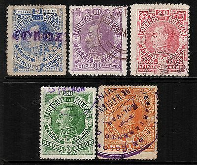 Colombia-Bolivar, Used, 43-48, Cancellations, 1884