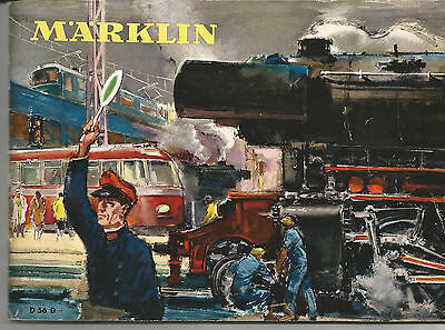 MÄRKLIN katalog Original von 1956 D 56 antik true vintage no reprint