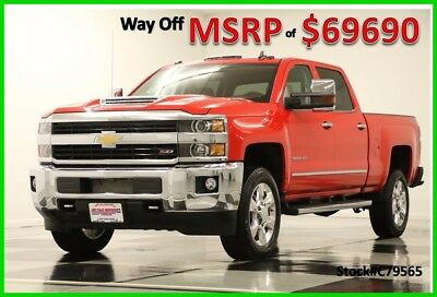 2017 Chevrolet Silverado 2500 HD MSRP$69690 4X4 LTZ Sunroof Red Crew 4WD New 2500HD Duramax Navigation GPS Heated Cooled Leather Seats 17 2018 18 Cab 6.6