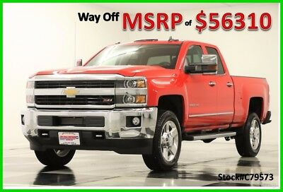 2017 Chevrolet Silverado 2500 HD MSRP$56310 4X4 LTZ GPS Red Double 4WD New 2500HD 6.0L V8 Heated Cooled Leather Seats Navigation Camera 17 2018 Ext Cab