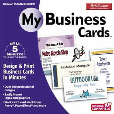 MY SOFTWARE MY BUSINESS CARDS  PC  Vista Win 7 8  Easy to Use  Brand New Sealed