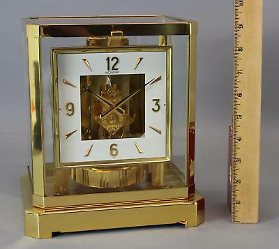 Vintage Swiss 15-Jewel, Jaeger LeCoultre, ATMOS Clock w/ Square Dial, NR
