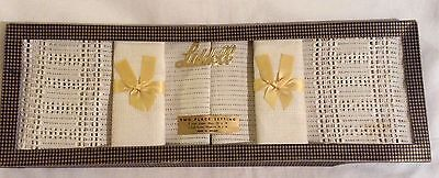 Vintage Liddell Irish linen 2 place setting, mats & napkins boxed