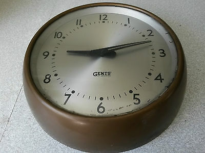 Retro -Gents Of Leicester Industrial Factory / Station Wall Clock -Working  -2