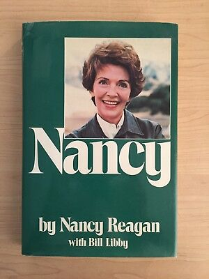 Nancy Reagan Autographed Signed 1980 Book Nancy