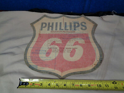 Vintage **phillips 66**  Advertising Decal Sign #3