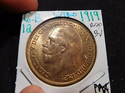 INV #W120 Great Britain 1919 Penny BU Red
