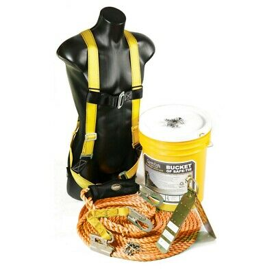 Guardian Fall Protection 00815 Bucket of Safe-Tie Fall Protection Safety Kit