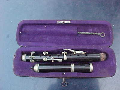 Antique German Supertone GH Huller Db.L.P Low Pitch  Piccolo  with case