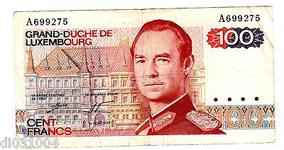 Luxembourg / LUXEMBURG Ticket 100 Francs 1980 P57 KING GOOD CONDITION