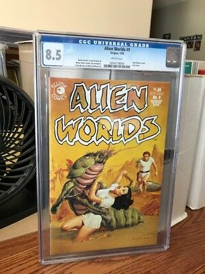 Nr Sale! The Rare... Unique... Or Awesome! Alien Worlds No. 9 (Cgc 8.5)