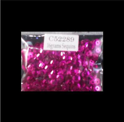 16g 6mm Cup Sequins - Hot Pink - - New
