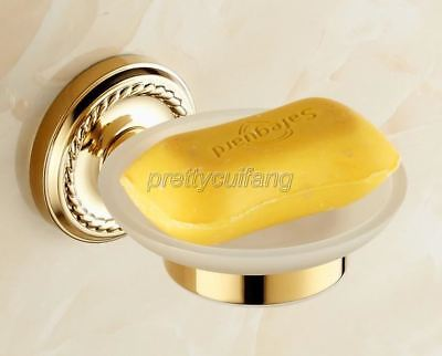 Luxury Gold Color Brass Wall Mounted Bathroom Soap Dish Holder Pba612