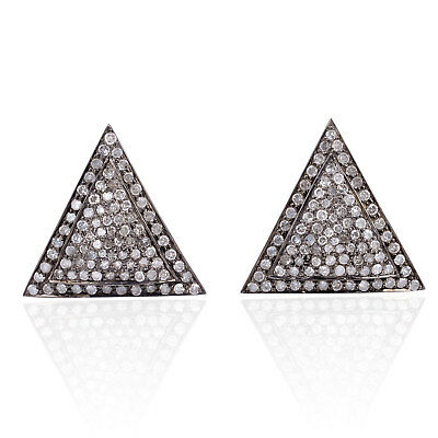 New Arrival !! Pave Diamond 925 Sterling Silver Cufflinks Gift Jewelry