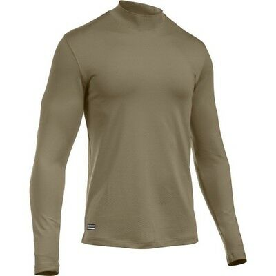 Under Armour 1244393 Men's Tan ColdGear Infrared Evo Mock Shirt - Size Small