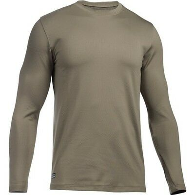 Under Armour 1244394 Men's Tan ColdGear Infrared Evo Crew Shirt - Size X-Large