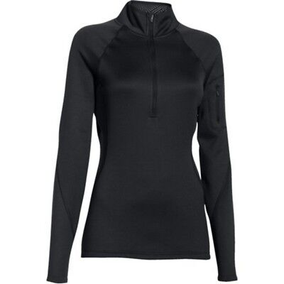 Under Armour 1271619 Women's Black ColdGear Infrared 1/4 Zip Shirt - Size Medium