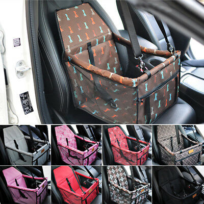 Portable Safe Pet Dog Puppy Cat Car Seat Travel Folding Bag Carrier Box Cage UK
