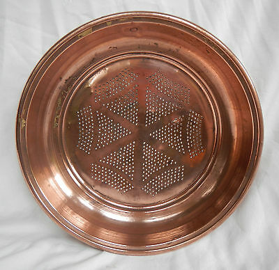 Large Antique French Copper Sieve / Colander / Strainer - pre 1900 (C)