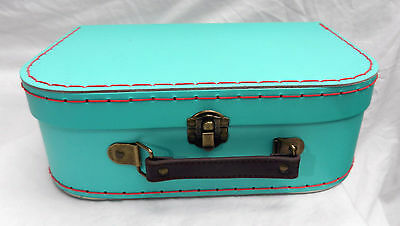 Retro Blue Suitcase Style Storage Box  - NEW