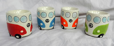 VW Volkswagen Camper Van Ceramic Egg Cup - Assorted Colours - BNWT (B)