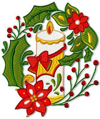 Christmas Deco Candles 10 Machine Embroidery Designs 3 Sizes