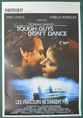 TOUGH GUYS DON'T DANCE (1987) Original Belgian Cinema Movie Poster - Ryan O'Neal