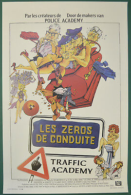 TRAFFIC ACADEMY (1985) Belgian Movie Poster - Johh Murray,  Jennifer Tilly