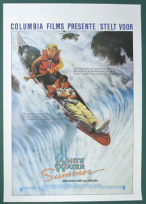 WHITE WATER SUMMER (1987) Belgian Cinema Movie Poster - Kevin Bacon,  Sean Astin