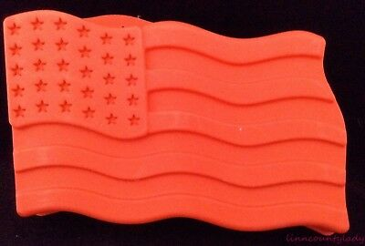 Jello United States Flag Mold Red Plastic Patriotic Independence Day Recipes FS