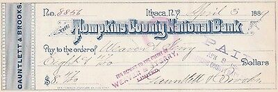 Tompkins County National Bank, Ithaca,  New York  1889