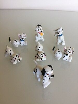 Official Disney 101 Dalmatians Set Of 7 Puppy Dogs Small Plastic Toy Figures