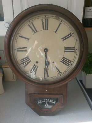 Vintage Housing Case Wooden Wall Clock - Regulator A -23 X 16 ""